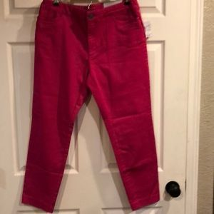 NWT Christopher and Bank hot pink ankle length